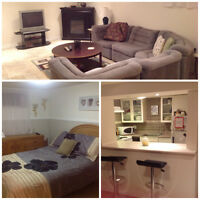 Urban Amenities/Rural Setting-1 bdrm furnished basement apt