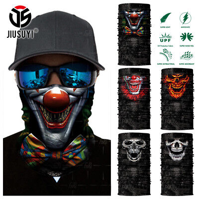 Halloween Clown Face (Clown Joker Cycling Neck Face Mask Scarf Balaclava Halloween Bandana)