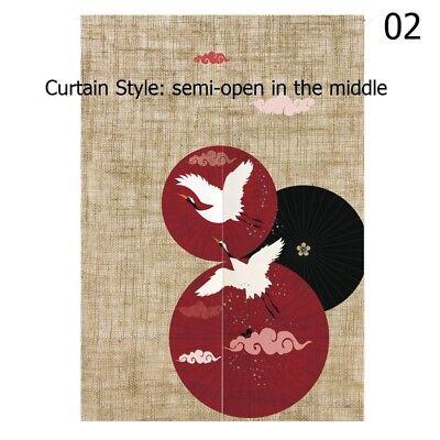 Japanese Noren Cotton Linen Koi Flower Crane Door Curtain Home Decor Vintage Art (Noren Koi)