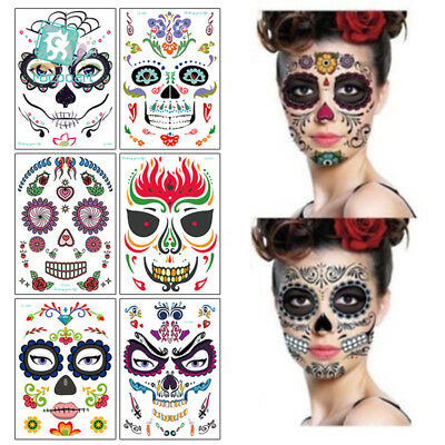 Halloween Temporary Tattoo Face Art Waterproof Masquerade Tattoo Sticker - Masquerade Mask Face Stickers