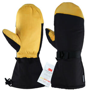 Ski Mittens, -40°F Cold Proof Winter Skiing Gloves with Thermal