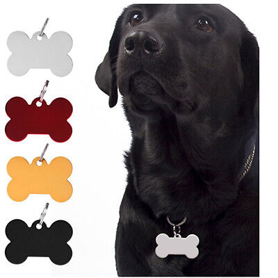 Pet Tags Dog / Cat ID Bone Shaped Engraving Animal Tags Name BSCA