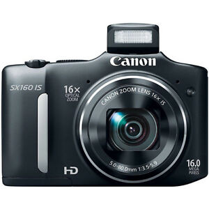 Canon PowerShot SX160 IS 16.0 MP Digital Camera with 16x Zoom