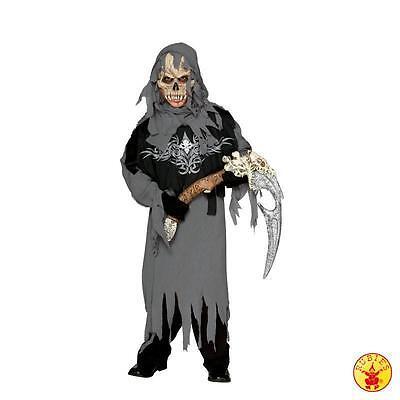 per Sensenmann Tod Fasching Halloween Kostüm Kinder M (Grim Reaper Kostüm Kinder)