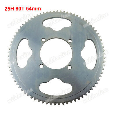25H 54mm 80T Rear Sprocket For XRF500 Razor MX350 MX400 Dirt Bike Mini Moto