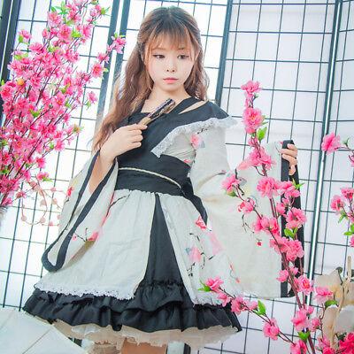 Hellgirl Cosplay Kostuem Costume Kimono Japan White Weiß - Kimono Girl Kostüm