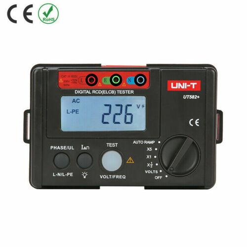 UNI-T UT582+ Digital RCD ELCB Testers AUTO RAMP Leakage Circuit Breaker✦Kd