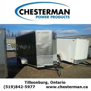 2015 Pace 5x10 Journey Cargo Trailer - V-nose - Rear Ramp London Ontario image 1