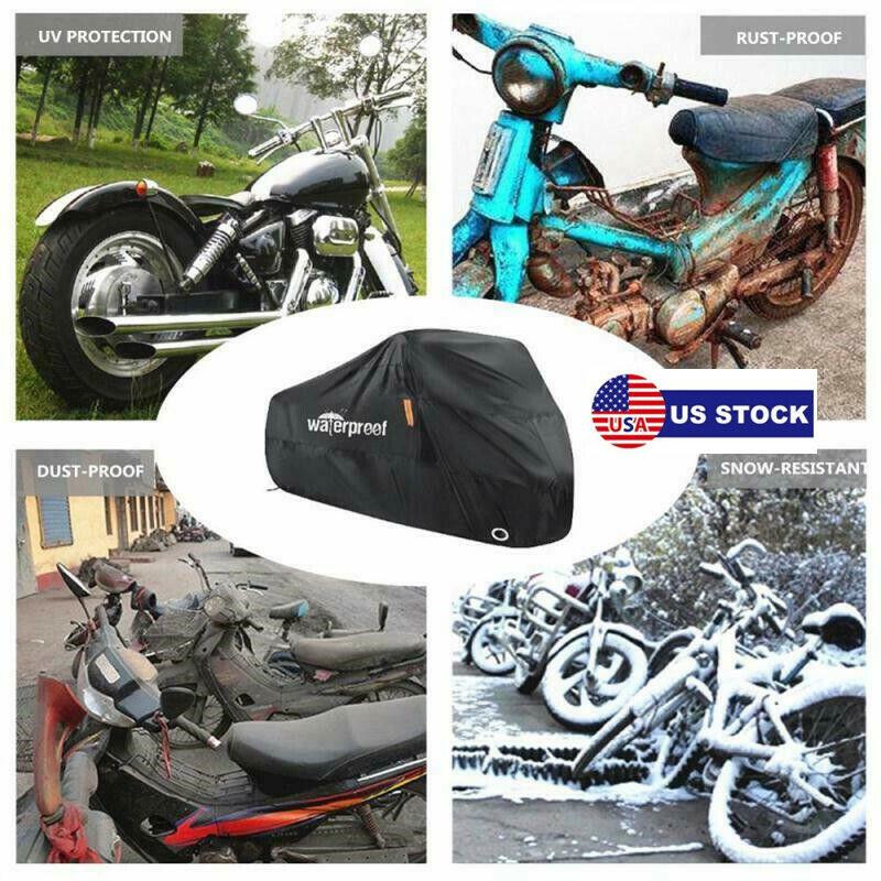 Bike Motorcycle Cover Waterproof Outside Dustproof Rain Protectors With Bags US