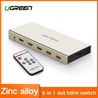 UGREEN HDMI Switch 4K x 2K 5 Port 5 in 1 HDMI Splitter Switcher Box for