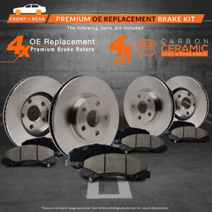 New Brake Pads + Rotors for 2008 2009 Audi A5 Quattro