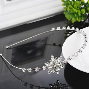 Women Light Silver Color Christmas Snowflake Headband Hair Band with Rhinestone