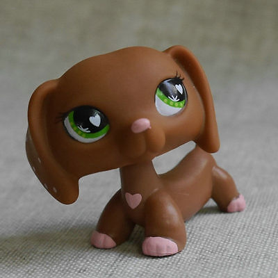 "Loves LPS COLLECTION LITTLEST PET SHOP Dachshund dog  RARE TOY 2"" #556"