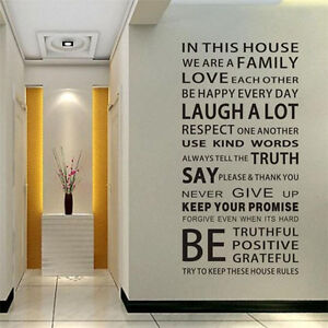 Home rules ,wall decor