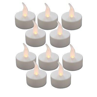 10 LED TEELICHT elektrische flackernde Teelichter flammenlose Kerzen Batterie