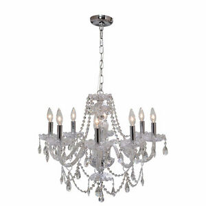 8-Light Crystal Venetian Chandelier - NEW