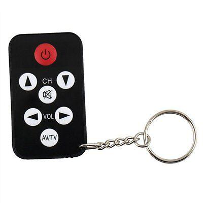 Mini Universal Infrared IR TV Set Remote Control Keychain Key Ring 7 Keys CA