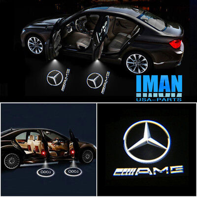 LED AMG Logo Courtesy Door Laser Light For Mercedes CLS CLA C-Class Coupe 11-17