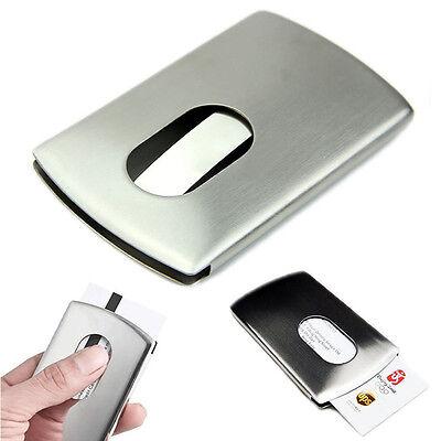 Mens Wallet Business Stainless Steel Name Credit Id Card Holder Pocket Case