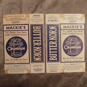Two old Mackies  Popcorn Boxes