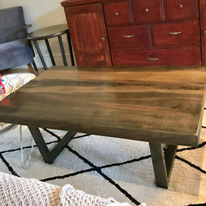 Wood coffee table and matching side table from Design Republic
