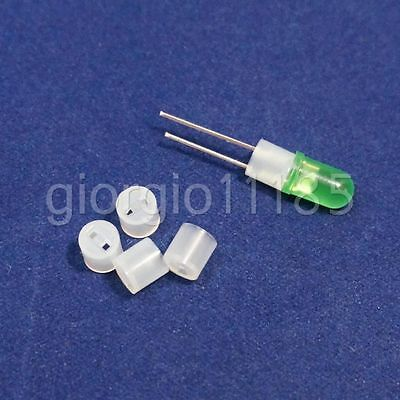 Us Stock 100pcs White Plastic Socket Holder Support 3mm Led 4 X 4.5mm Diy New