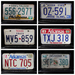 United States Licence Plates