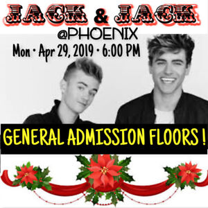 JACK & JACK @ PHOENIX – GENERAL ADMISSION FLOOR TICKETS!
