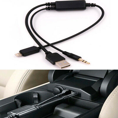USB AUX-IN Music Interface Adapter Cable to IPod IPhone 5 6 7 8 X for BMW/MINI ()
