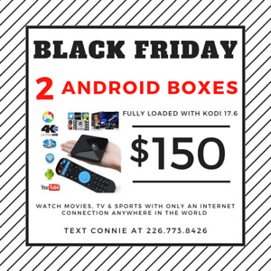 2 ANDROID BOXES FOR $150