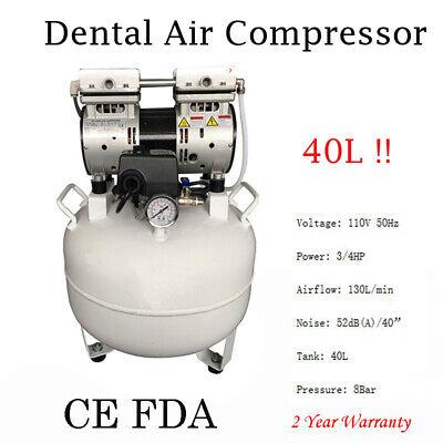 Dental Medical Air Compressor Silent Quiet Noiseless Oilless Compressor 40l Fda