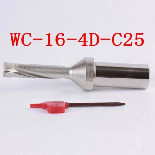 WPD 160-C25-4D U drill indexable drill 16mm C25 4D for WCMX030208 U drill insert