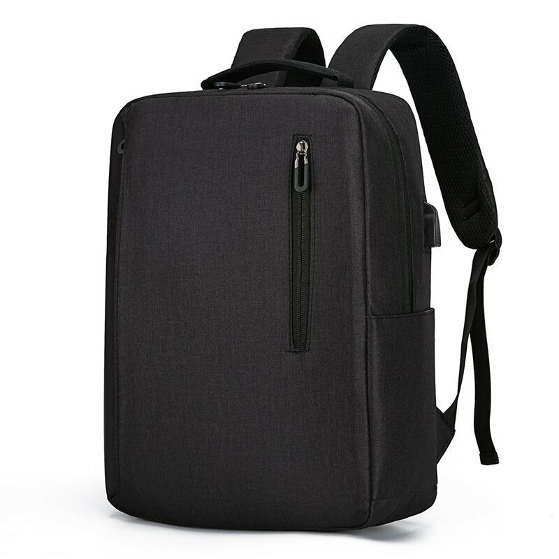 Male Backpack Nylon 15.6 Inch Laptop  Backpack USB Anti Thef