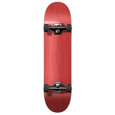 Yocaher Blank Complete Skateboard - Stained Red