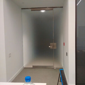 Custom Glass Wall Partitions and Glass Doors Installer