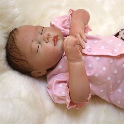 "20"" Reborn Baby Newborn Doll Lifelike Vinyl Silicone Sleeping Girl Handmade Toys"