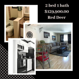 Red Deer: FULLY RENOVATED 2 bed 1 bath CONDO, JUST $129,900!!