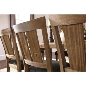 NEW - Beautiful Rustic -Dining Table & 6 Chairs -Tamilo D714-01