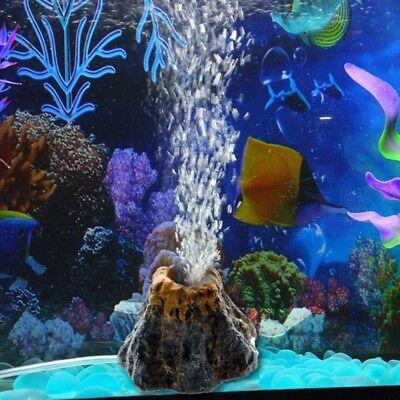 Fish Tank Volcano Air Bubble Stone Ornament Decor for Aquarium Oxygen Pump Tube - Bubble Decorations