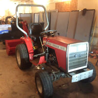 """tractor and blower M/F 3cyl diesel 4x4 50"""" blower package $5800."""