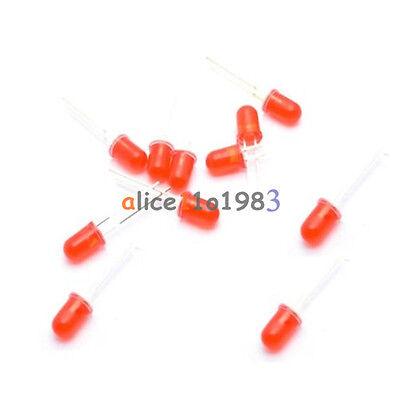 100Pcs LED 5MM RED COLOR RED LIGHT Super Bright Bulb Lamp