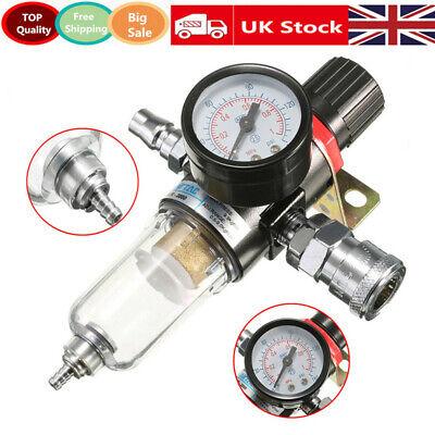 Mini Air Pressure Regulator Gauge Oil-water Separator Filter Airbrush Compressor