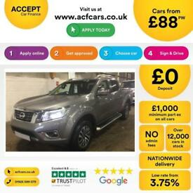 NISSAN NAVARA GREY CREWCAB PICK-UP 2.3 2.5 DCI TEKNA FROM £88 PER WEEK!