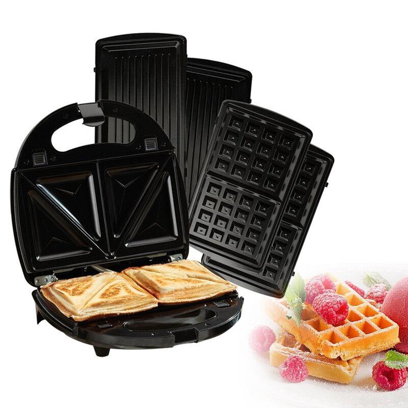 sandwichmaker sandwichtoaster waffeleisen 3 in 1. Black Bedroom Furniture Sets. Home Design Ideas