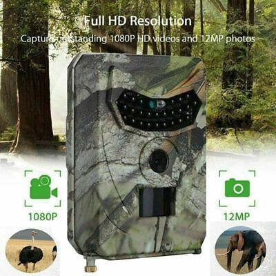 1080P HD Hunting Wildlife Trail Camera Video Night Vision Detecting Tool pr100