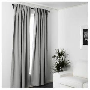 Rideaux IKEA Gris x2 - Curtains gray x2