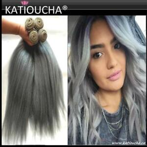 *****BIG SILVER GREY SALE***** WOW!!! $56. per  22''(56 cm)100g SILVER GRAY 100%HUMAN HAIR BUNDLE *****LIMITED TIME...