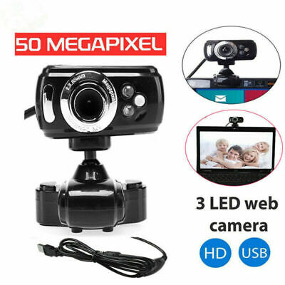 For PC Laptop Computer Video Camera Full Webcam With Mic Microphone 50M