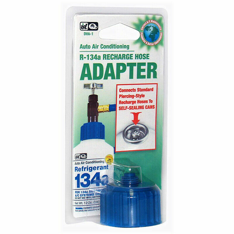 Interdynamics (DVA1) R-134a Self-Sealing Can Recharge Hose Adapter Air Conditioning Chemicals