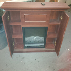 Like New electric Fire place cabinet
